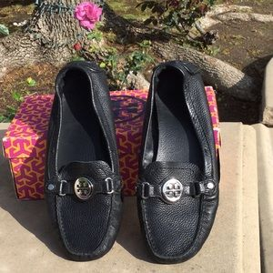 Authentic Tory Burch Black Harrison Driver Shoe